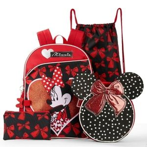 #201 Disney Land Minnie Mouse Backpack Bag Set